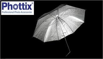 Студийный отражатель-зонт Phottix 101см (40″) чёрный снаружи и текстурированный серебряный внутри