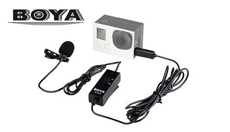 Микрофон петличный Boya GM-10 для GoPro Hero 3/3+/4