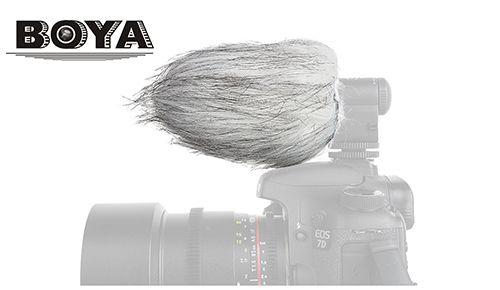 Меховая ветрозащита Boya BY-B02 для микрофона