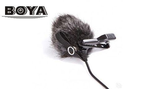 Меховая ветрозащита Boya BY-B05 для петличного микрофона