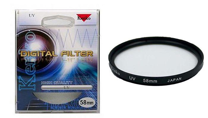 Ультрафиолетовый светофильтр Kenko UV 58 mm.