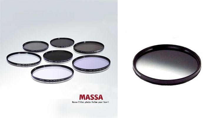 Нейтрально-серый градиентный светофильтр Massa 58mm.