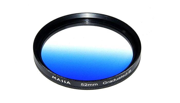 Градиентный синий светофильтр Massa Blue