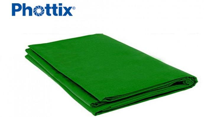 Бесшовный зеленый фон Phottix Green Muslin 3*6