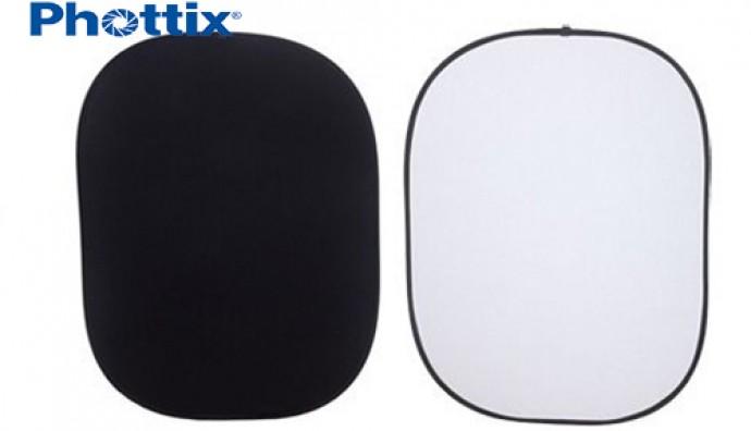 Раскладной фон Phottix Collapsible Background(черный/белый)
